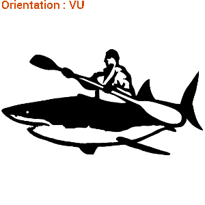 Les copains apprécieront ce sticker Humour pour les fans de pêche.