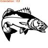 Création d'adhésif poisson bar attaque par atomistickers.