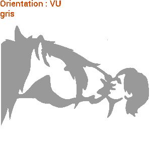 ATOMIStickers trot chevaux déco de van équitation mors j'aime mon cheval qui trotte.