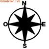 Sticker boussole avec les 4 points cardinaux sur zlook ahésifs marins.