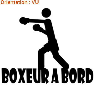 Autocollant club de boxe sticker by zlook.
