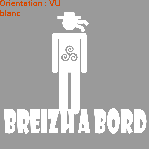 Zlook breton : autocollant breizh !