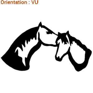 Zlook chevaux amoureux : autocollants tendresse.