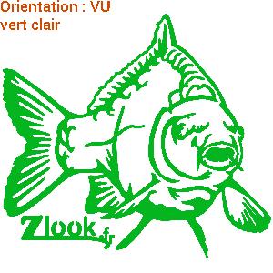 ZLook vente d'adhésif carpe qui nage.