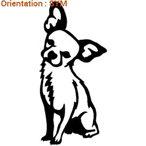 Ce sticker chihuahua assis plaira à vos amis (zlook chien de compagnie).