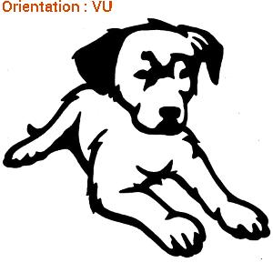 ATOMIstickers dogs pour alerter les passants (zlook chiot).