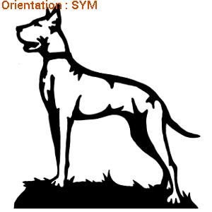 Atomistickers chiens : choisir l'adhésif dogue allemand.