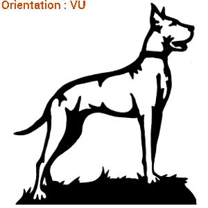 Zlook chien d'attaque avec atomistickers dogue allemand.