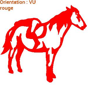 ATOMIStickers équitation cheval au pre saut d'obstacle van qui hennit qui galope original.