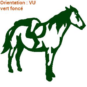 ATOMIStickers transport de chevaux cheval au pre sabot van qui hennit cheval au pre original.