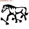 Sticker cheval par atomistickers.