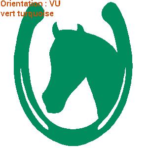 Ce sticker fer à cheval est un autocollant pour cavalier avec zlook.