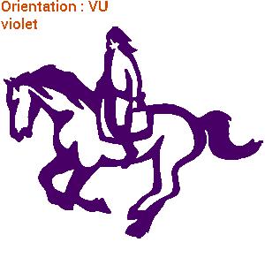 ATOMIStickers grand choix équitation vinyle langage chevaux personnalisable qui galope.