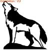 LEs huskys sont des chiens qui aiment courir (autocollants zlook chien)