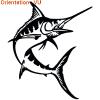 Ce marlin est une décoration adhésive esthtique pour votre bateau.