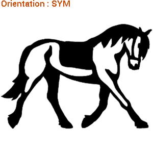 Autocollant cheval : conseils pour réussir un trot allongé avec son cheval (zlook chevaux).