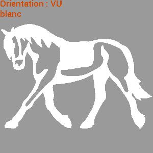 ATOMIStickers van club équitation qui hennit harnais balade fer a cheval selle.