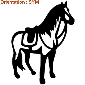 ATOMIStickers décoration qui trotte cheval au pre monter à cheval campo signalétique cabrer.