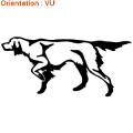Zlook chien de chasse : décoration setter irlandais.