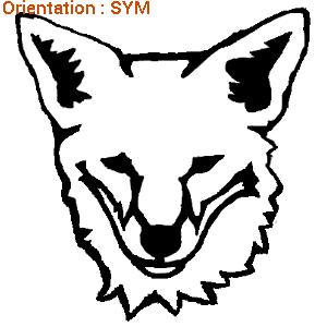 Autocollants renard : sticker chasse sur zlook.