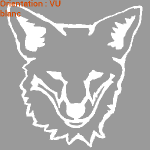 Sticker tête de renard : atomistickers animal sauvage.