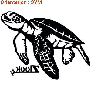Cadeau pour un ami proche : sticker autocollant tortue de mer by zlook marin.