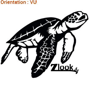 Autocollant tortue de mer en vente en adhésif résistant sur atomsitickers.