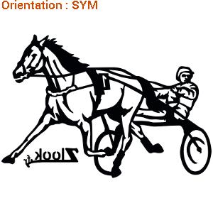 ATOMIStickers trouver déco de van vente race de chevaux harnais lettrage transport de chevaux.