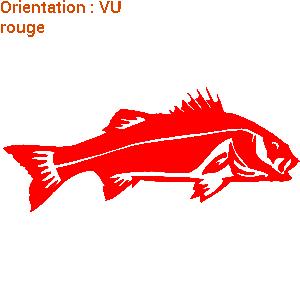 Sticker sticker poisson bar - Poisson rouge rigolo ...