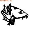 Atomistickers est le spécialiste des autocolalnts poissons réalistes.