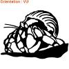 Autocollant bernard l'hermite (zlook coquillages)