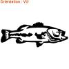 Atomistickers décore les bateaux avec un sticker poisson black bass.