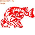 Autocollants poisson brochet : zlook pêcheur, stickers immat barque de pêche ou immatricualtion bateau.