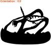 ATOMIstickers présente un autocollant brochet avec un leurre.