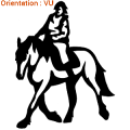 ATOMIStickers chevaux dressage sabot équitation fer a cheval original van.
