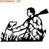 Atomistickers chasse adhésif chiens.