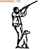 Vente de stickers chasse sur atomistickers chiens de chasse.