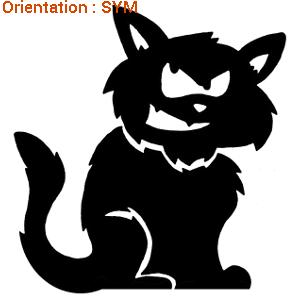 Les chats sont représentés en stickers autocollants sur zlook.fr !