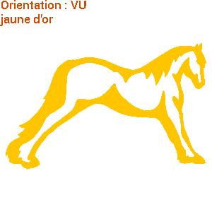 Stickers autocollants de chevaux : adhésif cheval campo par atomistickers.
