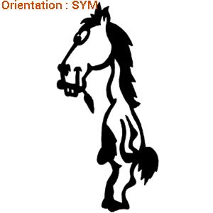 Un sticker cheval rigolo pour les fans d'équitation sur atomistickers.