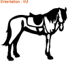 14 couleurs éclatantes pour votre autocollant cheval avec atomistickers.