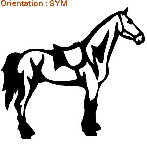 ATOMIStickers fan de fer a cheval grand choix dressage personnalisable mors langage.