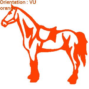 Zlook cheval de race avec les adhésifs chevaux atomistickers.