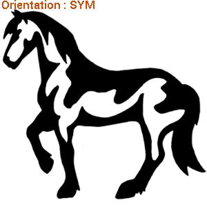 ATOMIStickers petit prix chevaux cheval au pre qui hennit décoration van qui trotte.