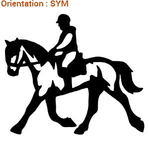 ATOMIStickers cabre carrière chevaux trouver saut d'obstacle équitation langage adhésif.