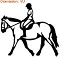 ATOMIStickers vente van selle trouver cabrer carrière chevaux autocollants.