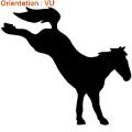 ATOMIStickers saut d'obstacle chevaux sticker crinière équitation cadeau chevaux.