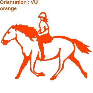 ATOMIStickers cavalier acheter selle personnalisable trot monter à cheval qui hennit.