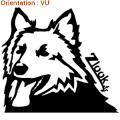Ce sticker zlook montre un chien de travail (atomistickers élevage de chien).