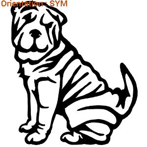 Autocollants chien par atomistickers : chiens adhésifs pour décorer.